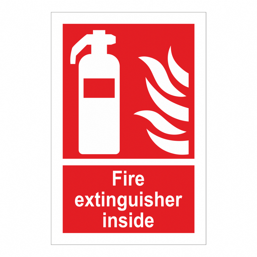 fire extinguisher inside sign fire equipment signs